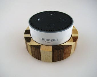 Amazon Echo Dot Base - Chaotic Wood Design