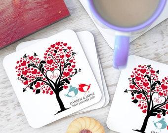 Personalised Love Tree Coasters