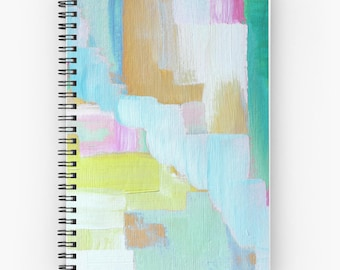 Spiral Notebooks, Spiral Journals, Abstract Art - FREE Shipping -
