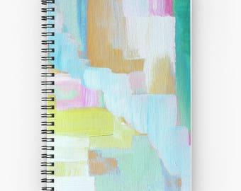 Spiral Notebooks, Spiral Journals, Abstract Art - FREE Shipping -