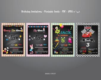 Kids Birthday Invitations •  Printable Invite •  PDF •  JPEG • A5 Size •