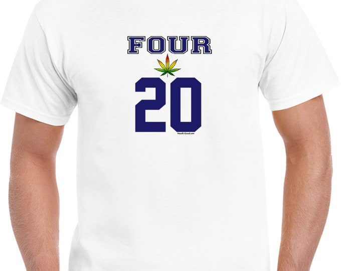 420 Weed T Shirt Four-20 Shirts Funny Cannabis Clothing