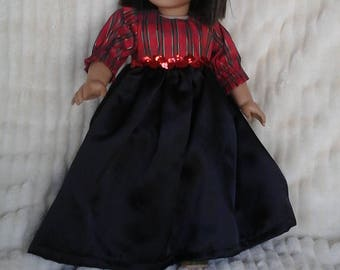 Christmas dress for 18inch doll