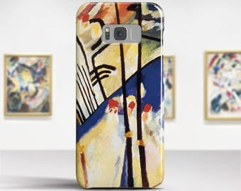 """Wassily Kandinsky, """"Composition IV"""". Samsung Galaxy Note 8 Case Google Pixel XL Case LG G6 case Galaxy A3 2017 Case and more."""