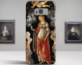 "Sandro Botticelli, ""Primavera"". Samsung Galaxy S8 Case LG V30 case Google Pixel Case Galaxy J7 2017 Case and more. Art phone cases."