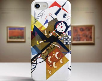 "Vassily Kandinsky, ""On White II"". iPhone 8 Case Art iPhone 7 Case iPhone 6 Plus Case and more. iPhone 8 TOUGH cases. Art iphone cases."