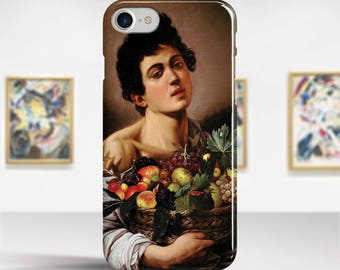 "Caravaggio, ""Boy with a Basket of Fruit"". iPhone 8 Case Art iPhone 7 Case iPhone 6 Plus Case and more. iPhone 8 TOUGH cases Art iphone cases"