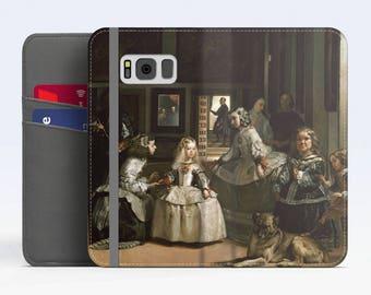 """Diego Velázquez, """"Las Meninas"""". Samsung Galaxy S8 Wallet case. Samsung S7 wallet case. Samsung S6 wallet case. iPhone Wallet cases."""