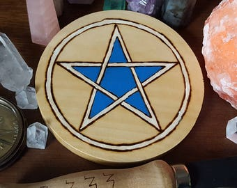 Blue and White Wicca Altar Pentacle