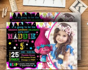 Trolls Birthday, Trolls Invitation, Trolls Birthday Invitation, Trolls Party, Trolls Birthday Party, Trolls Party Invitation, Poppy Trolls