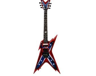 Miniature Guitar Replica: Dimebag Darrell Razorback Rebel Guitar