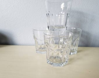 Vintage Libbey clear tumblers