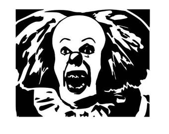 It Movie Original Pennywise Horror Clown Vinyl Car Decal Bumper Window Sticker Any Color Multiple Sizes