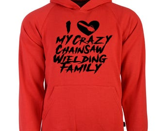 Chainsaw Family Valentine's Day Unisex Hoodie Pullover Hooded Sweatshirt Many Sizes Colors Custom Horror Halloween Merch Massacre