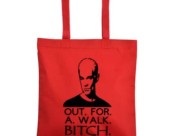 Buffy the Vampire Slayer Spike Horror Canvas Tote Bag Market Pouch Grocery Reusable Halloween Merch Massacre Black Friday Christmas