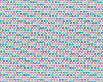 Purple Dots - Multi Color Polka Dots - Flannel - Alpine Fabrics - Doodlebug Designs - By the Yard