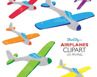 Airplane Clipart, Plane Clip art, Jet plane graphics, Pilot clipart, flight Clipart, clipart for stickers, Sky Paper clipart, Commercial use