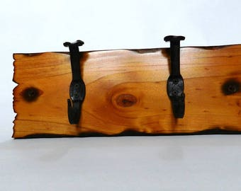 Rustic Timber Coat Rack