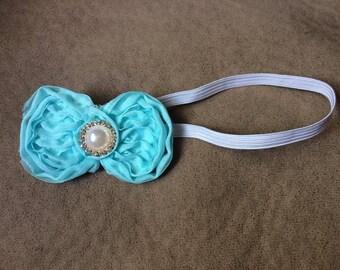 Shabby Bow Headband for Newborn