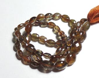Super Top Quality Natural Andalusite 5x4-9x7 MM Faceted Nuggets Shape  14 Inch Strand