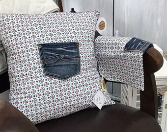 Cushion cover 40 x 40 blue