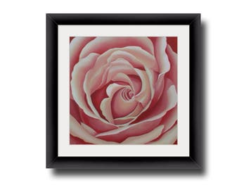 Rose Wall Decor pink rose wall art | etsy