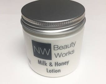 Milk & Honey Lotion | Moisturizing Body Lotion | Natural | Great For ALL Skin Types! | 4 oz Jar