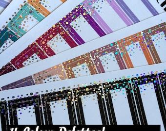 CHUNKY GLITTER Labels - Confetti Kiss Cut Planner Stickers