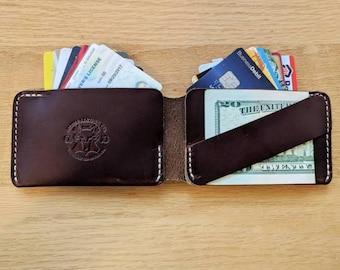 The Chapman Bifold Wallet, Minimalist bifold Wallet, Cash Strap, Personalized Mens Wallet, Mens leather Wallet, Card Wallet, Leather Bifold
