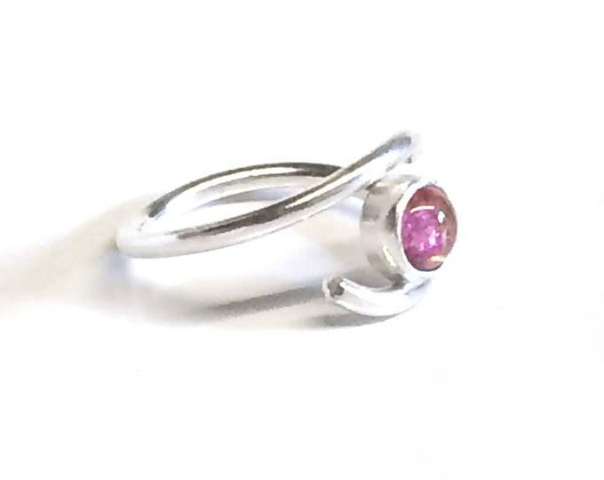 Pink Tourmaline Adjustable Ring