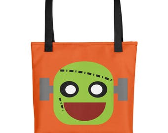 Trick-or-treat Tote bag  Cute Frankenstein - Halloween tote bag for trick or treat