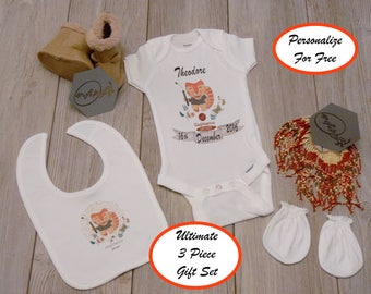 Baby birth date etsy sagittarius personalized zodiac sign baby onesie 3 piece gift set zodiac baby gift negle Image collections