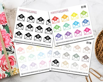 011 | Email // Mini Icon Planner Stickers