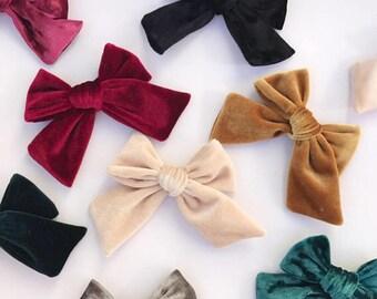 Velvet baby bow, Velvet hair bows, velvet bow baby, velvet headband, velvet bow headbands, oversized velvet hair bow, gold velvet, pink