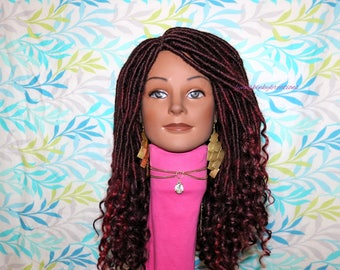 "READY TO SHIP  //Synthetic crochet wig "" Red Hot Goddess locs"""