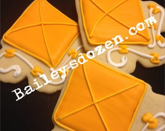 Kite Cookies | Custom Decorated Sugar Cookies