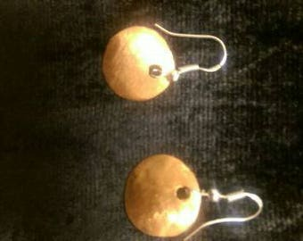 Hand crafted Copper Full Moon Earrings
