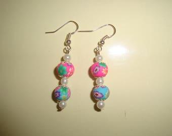 polymer flower earring