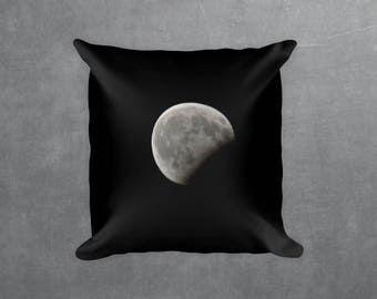 Full Moon Eclipse Decorative Throw Pillow - Square pillow with\ without zipper