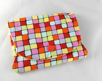 Colorful square patterns gift pouch