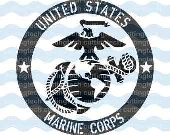 United States Marine Corps Emblem SVG, PNG, and STUDIO3 Cut Files for Silhouette Cameo/Portrait and Cricut Explore DIY Craft Cutters