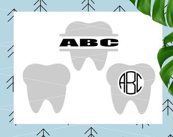Dental SVG Dental monogram SVG Teeth SVG Tooth svg Tooth Fairy Svg svg files for Cricut Silhouette Cutting File svg dxf png eps lfvs