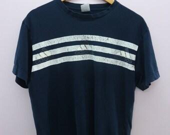 Vintage Adidas Shirt Minimal Logo Sportswear Street Wear Top Tee T-Shirt Size L