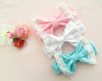 Baby headband , baby lace headband , children headband, baby cotton headband