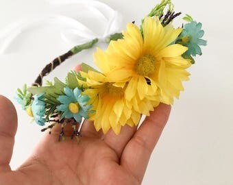 Baby flower Crown, baby photo prop, baby headband , flower crown,