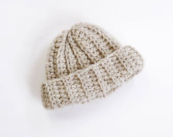 LITTLE SMITH BEANIE | modern chunky fisherman beanie for newborns, baby, toddlers and children