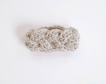 LITTLE MYRTLE HEADBAND   modern chunky braided crochet earwarmer for newborns, baby, toddlers and children