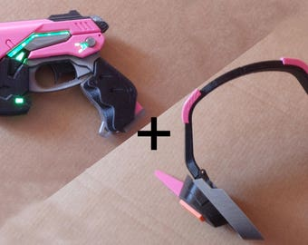D.VA GUN + HEADSET (overwatch)