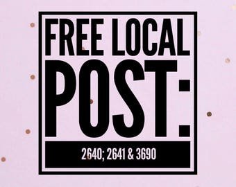 FREE LOCAL POST
