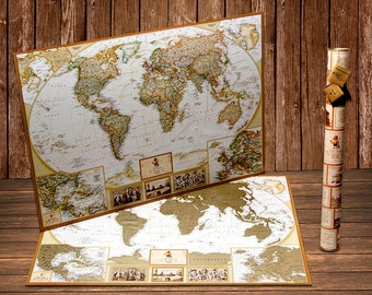 World Scratch off Map Push-Pin – The Best Gift For Traveling Friend - World Scratch Map - Scratch off Map - World Scratch off Travel Map Pin